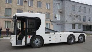 Перша українська електро вантажівка Богдан ERCV27